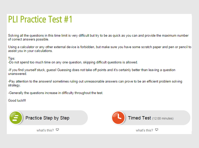 Prepare For The Pi Li Formarly The Pli Test Online
