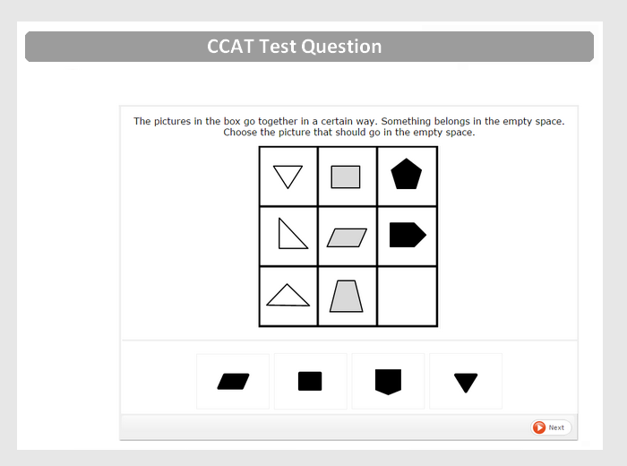 CCAT Question Preview #1