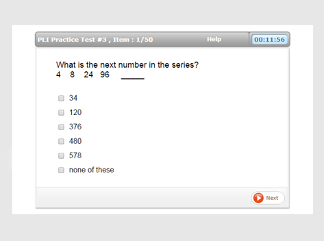 PLI Number Series Question Preview