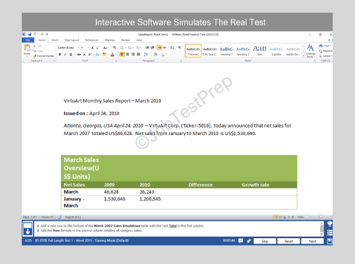 microsoft word test for interview prep  ms word practice