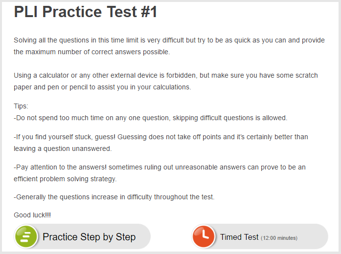 Prepare for the PI LI Assessment (PLI) Test - JobTestPrep