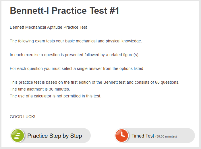 Free Online Mechanical Aptitude Test Sample Questions