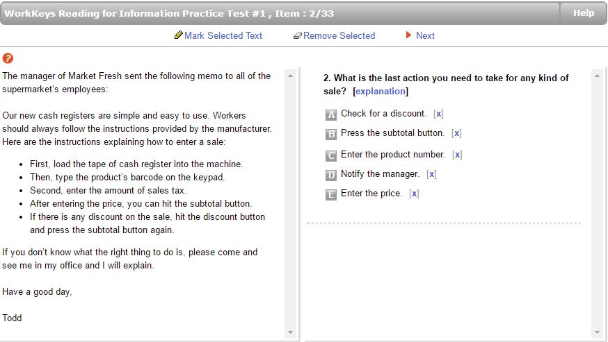 workkeys locating information test preparation jobtestprep rh jobtestprep com WorkKeys Pre-test WorkKeys Training