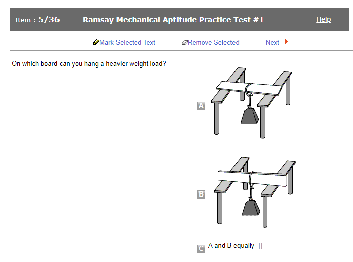 Ramsay Mechanical Test Practice Online Jobtestprep