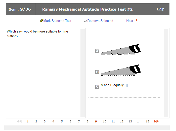 ramsay mechanical test practice online jobtestprep rh jobtestprep com Fraction Test Test Short-Answer