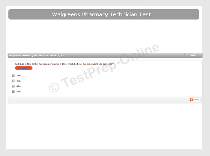 Walgreens Pharmacy Technician Test Preparation Jobtestprep