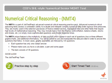 SHL Numerical Critical Reasoning