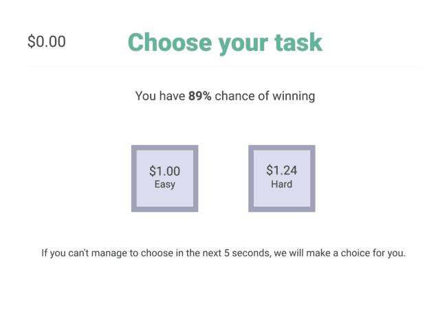 Pymetrics Hard or Easy Task Game