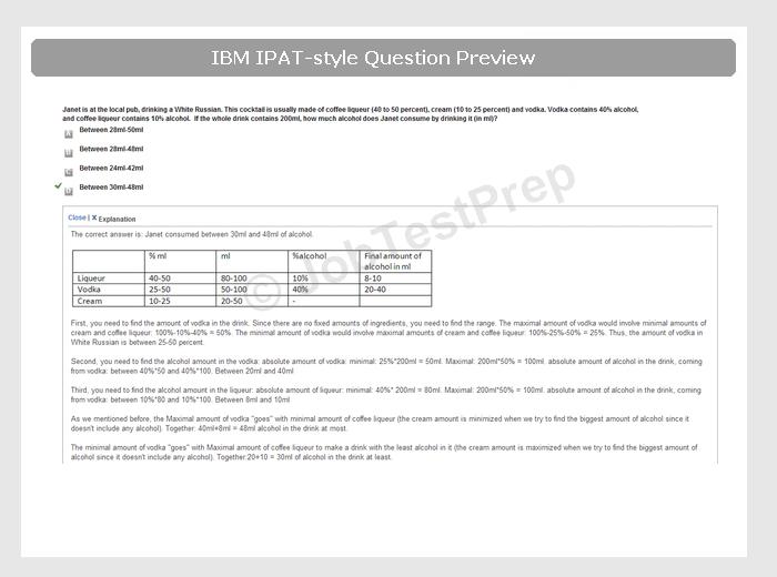 ibm ipat test aptitude test preparation jobtestprep