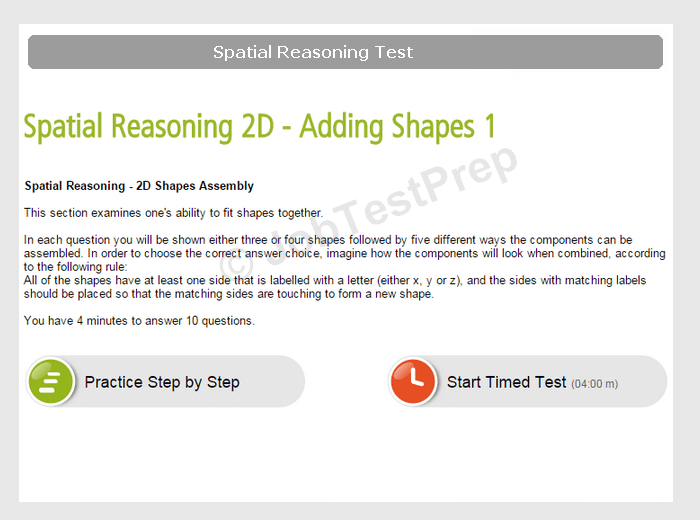 Prepare for the Spatial Reasoning Test