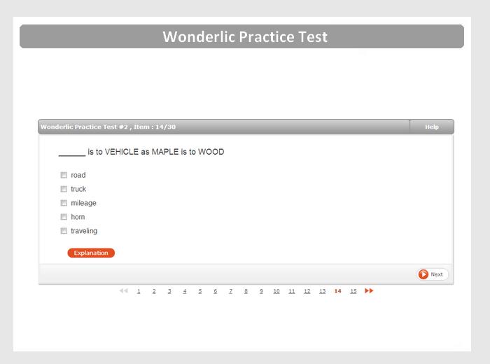 Free Wonderlic Sample Test with Answers & Explanations - JobTestPrep