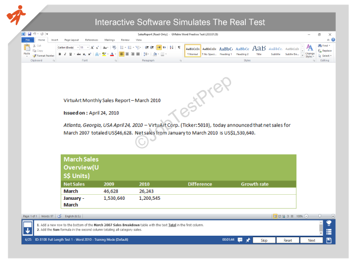 Microsoft Word Skills Assessment Acurnamedia