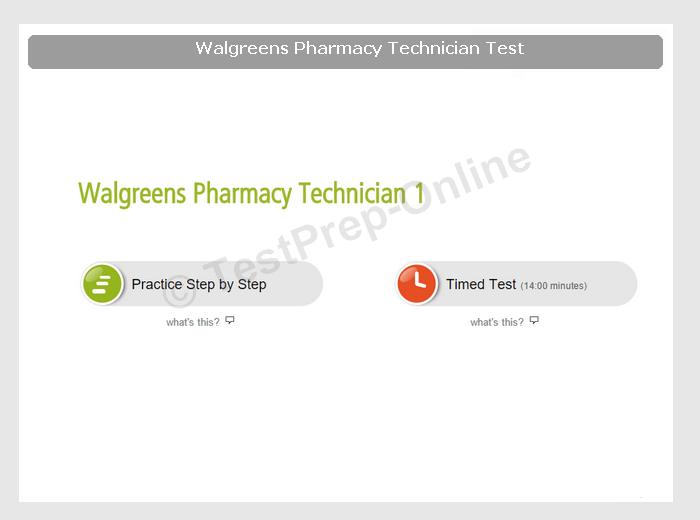 walgreens pharmacy technician test preparation